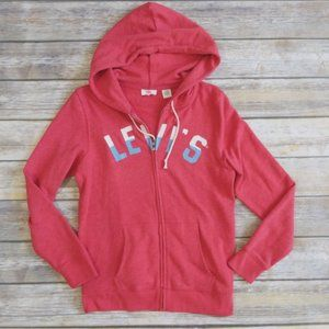 Levi's Red Zipup Hoodie